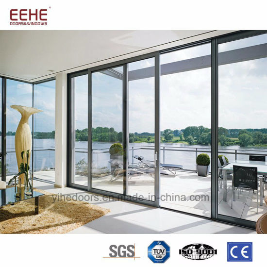 Balcony Aluminum Sliding Glass Doors, Interior Sliding Doors With Shutter
