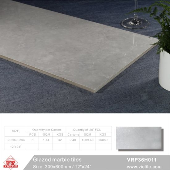 Building Material Marble Stone Glazed Polished Porcelain Floor Tile (VRP36H002, 300X600mm/12′′x24′′) pictures & photos