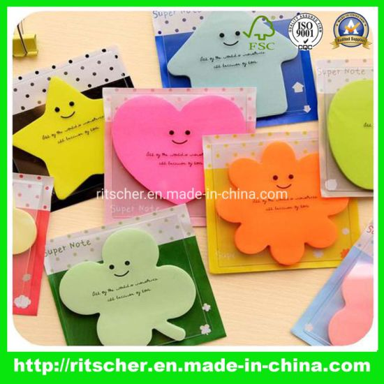 Die-Cut Sticky Note Pet Memo Note Pad Office Supply