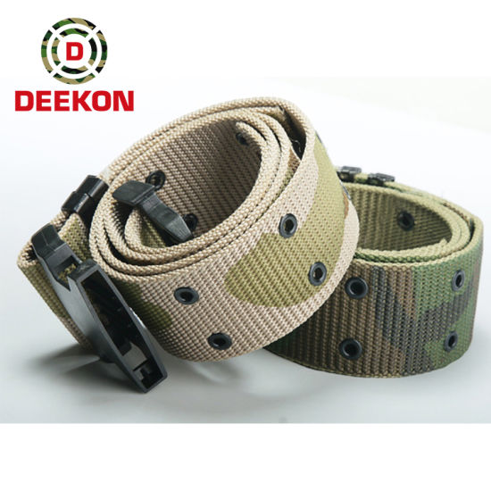 Custom Logo Outdoor Camping Army Cheap Price High Quality Nylon Webbing Canvas Military Tactical Belt with Plastic Buckle