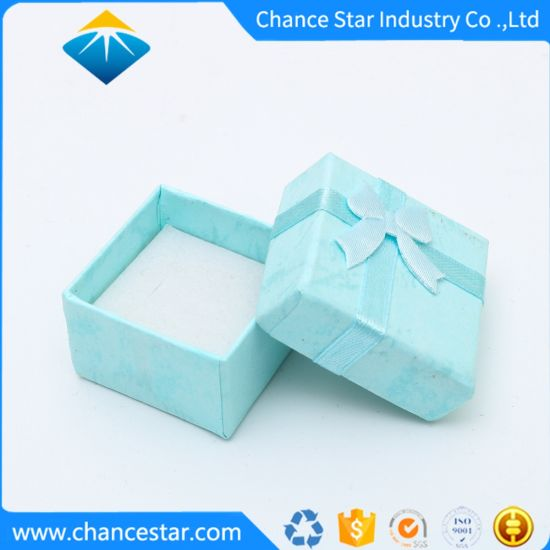Custom Printed Color Paper Cardboard Ring Jewelry Gift Packaging Box