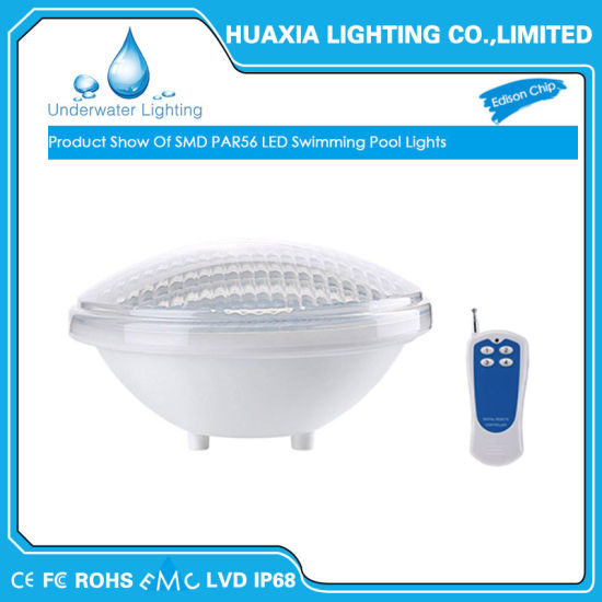 Ip68 12v Par56 Led Underwater Swimming Pool Light With Remote Switch Control