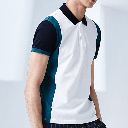 59b9e9529 Wholesale Sportswear 100% Polyester Dry Fit Custom Two Color Combination  Mens Polo Shirt