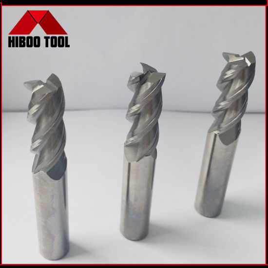 CNC Lathe Solid Carbide 3f End Mill for Aluminum Cutting