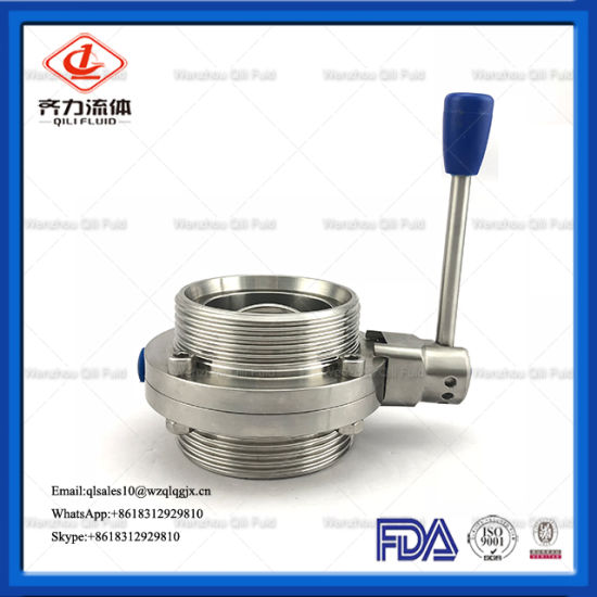 """Qili Food Grade Hygienic Sanitary Stainless Steel SS316L Male Butterfly Valve 1""""2""""4 6"""""""