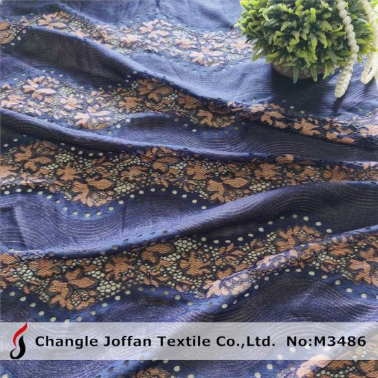 Textile African Lace Fabric Polyester Cotton Fabric Lace for Garment (M3486)