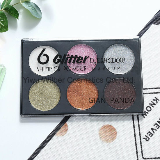 6 Glitter Eyeshadow Shimmer Powder Makeup Cosmetics pictures & photos