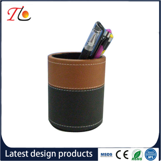 China Pu Product Desk Pen Holder Office Decoration China 3d
