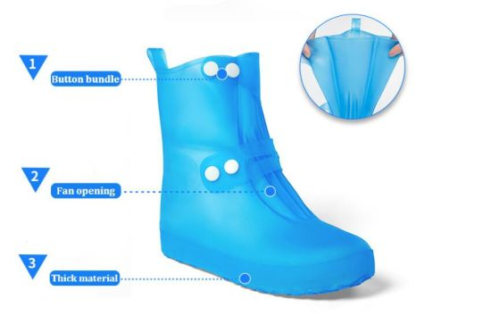 Rubber Shoes Covers Waterproof Ladies Rain Boots
