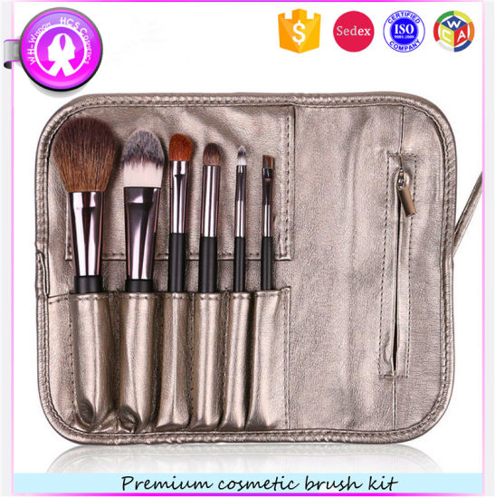Hot Sale High-End Custom Logo 6PCS Cosmetic Makeup Brushes pictures & photos