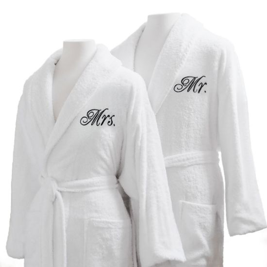 High Quality Hotel Terry Cloth Bathrobes - 100% Egyptian Cotton Mr.   Mrs. Bathrobe  Set db65cbf2d