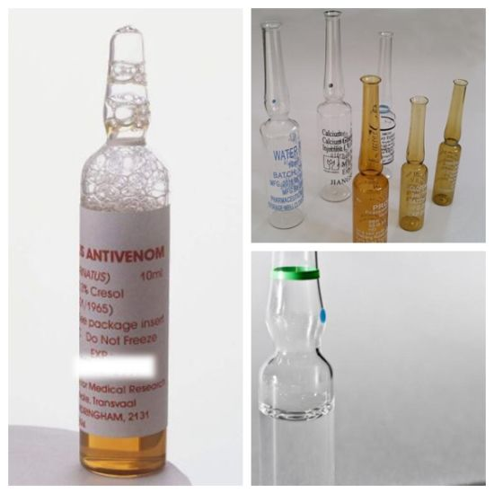 Pharmaceutical Glass Container Packaging 2ml Clear Ampoule