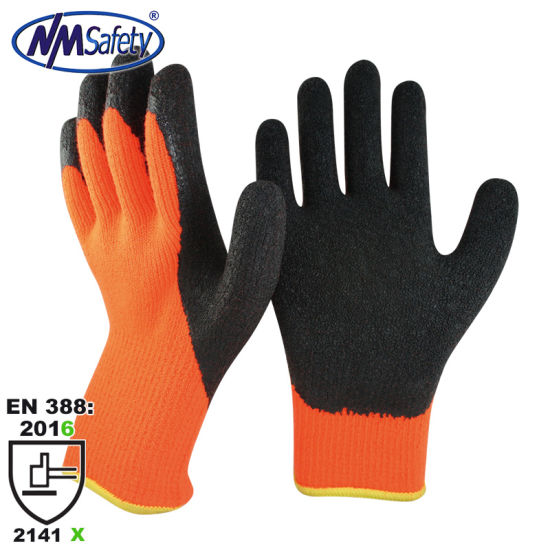 Nmsafety 7 Gauge Acrylic Fleece Liner Coated Latex Thermal Winter Work Safety Glove pictures & photos
