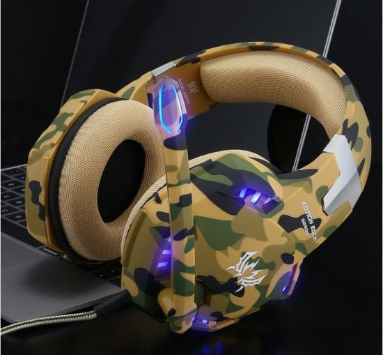 Kotion Each G2600 Over Ear Headphones with Mic and Volume Control, Stunning LED Lights for Laptop/PS4 xBox One pictures & photos