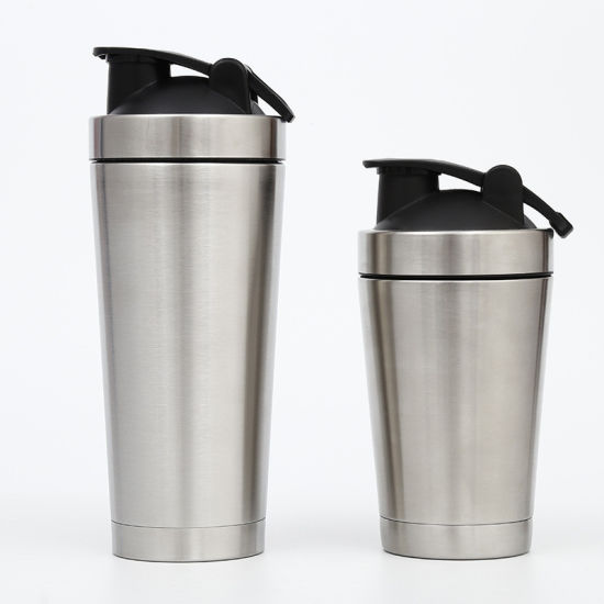 Stainless Steel Double Wall Vacuum Insulated Sports Water Bottle Gym Protein Powder Shaker