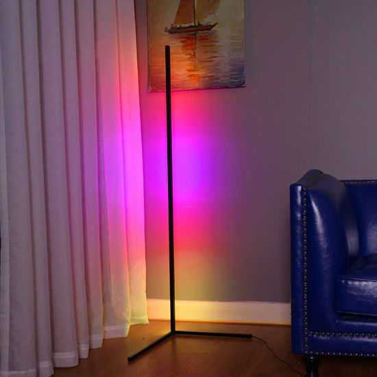 China Aluminum Led Cozy Bar Dimmer Color Floor Lamp Rgb Corner Lamp China Modern Metal Floor Lamp Floor Lamp In Living Room