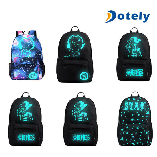 Luminous Anti-Theft Backpack School Shouldertravel Bag with USB Charging Port pictures & photos