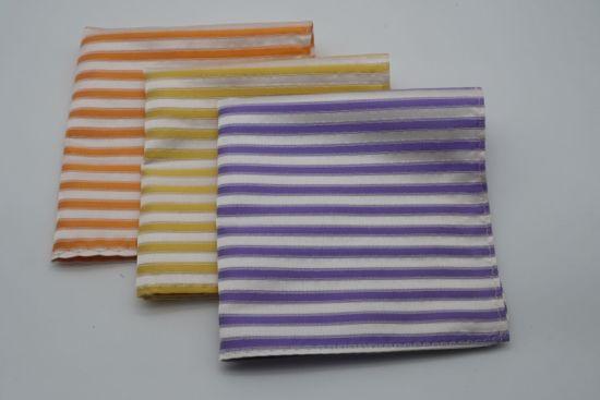Light Blue Color Twill Design Silk Fabric Pocket Square