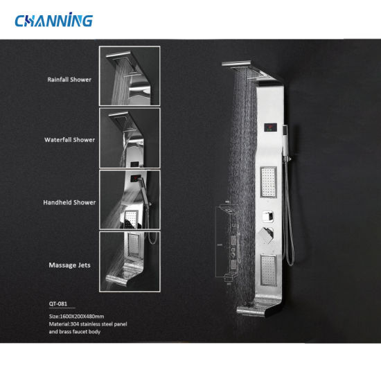 Channing Shower Mixer Rainfall Waterfall Shower Head with Temperature Sensor and Seat (QT-081)
