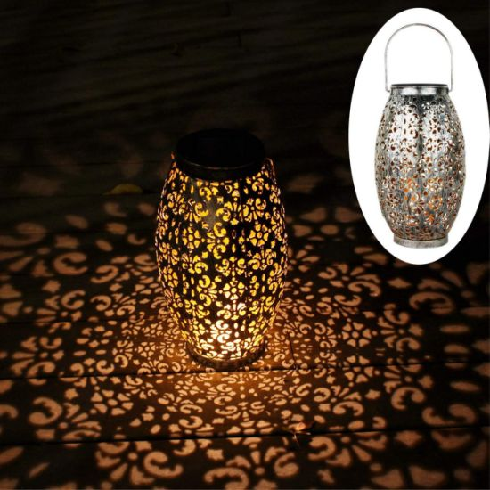Outdoor Ornaments Gift Table Hanging Solar Lights Lanterns for Garden Patio Yard Park