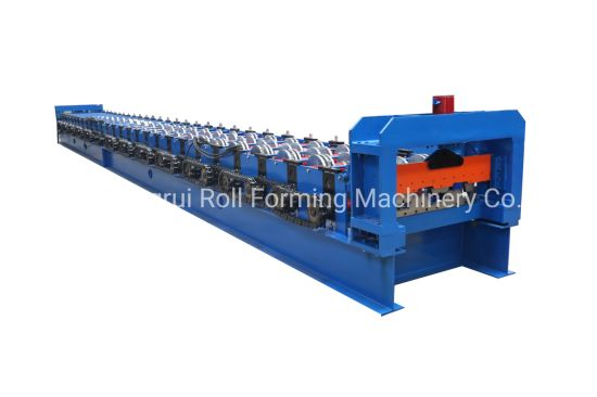 Automatic Industrial Steel Floor Deck Bending Machine with Hydraulic Cutter and Metal Roll Former Equipment