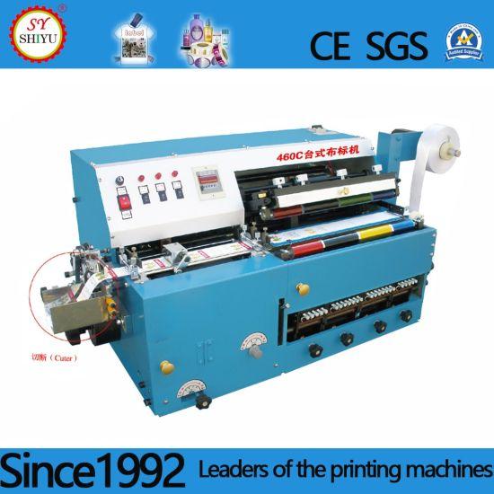 Automatic Desktop Multi-Color Polyester Satin Nylon Cotton Tape Ployester PVC Ribbon Satin Adhesive Paper Cloth Label Printing Machine