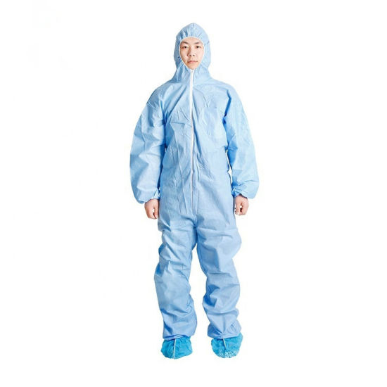 Wholesale Cheap Safety Isolation Protective Non Woven Microporous Coverall Waterproof pictures & photos