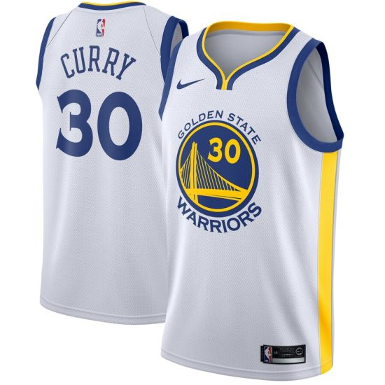 Wholesale Stephen Curry Golden State Warriors Swingman Customized #30 Jersey White - Association Edition