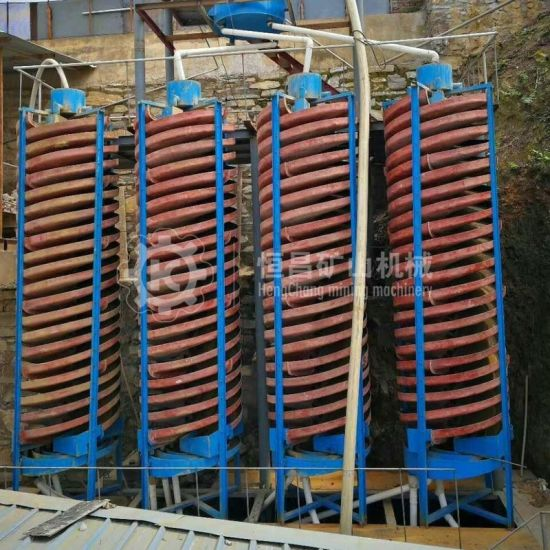 Mineral Processing Gravity Concentrator Gold Washing Machine Gold Screw Chute Separator for Sale