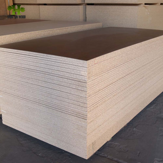 China 1220 2440mm Melamine Laminated Chipboard For Cabinet China Flakeboard Melamine Particle Board