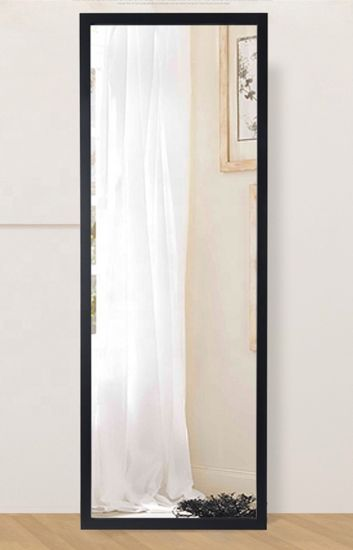 China Black Mirror Wall Mounted Full, Full Length Mirror Black Trim