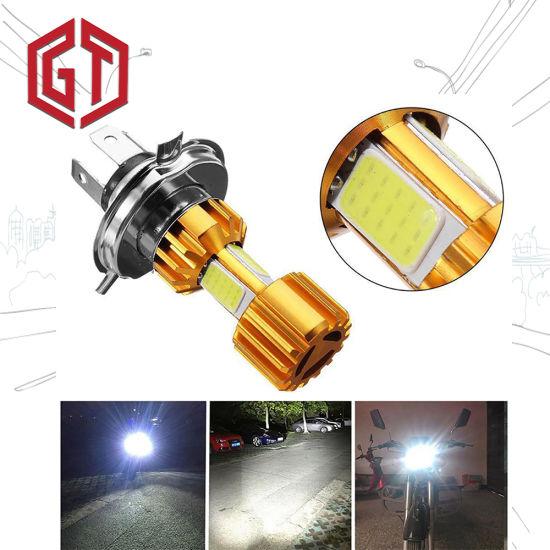 H4 LED Headlight Bulbs Universal DC 12V 18W LED COB Motorcycle Headlight Lamp
