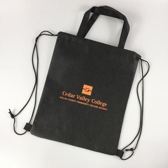 Bags with Handles and Drawstring Non-Woven Gift Tote Bags Shopping Bag Non-Woven Handbags