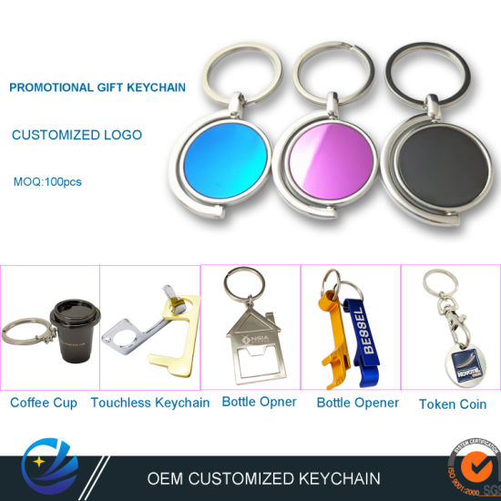 Factory Custom Personalized Laser Carving Logo Christmas Decoration Gift Keyring Metal Promotional Gift Bottle Opener Keychain with Free Design