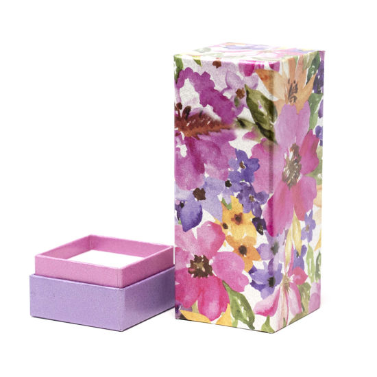 Elegant Perfume Bottle Package Display Gift Box with Long Lid