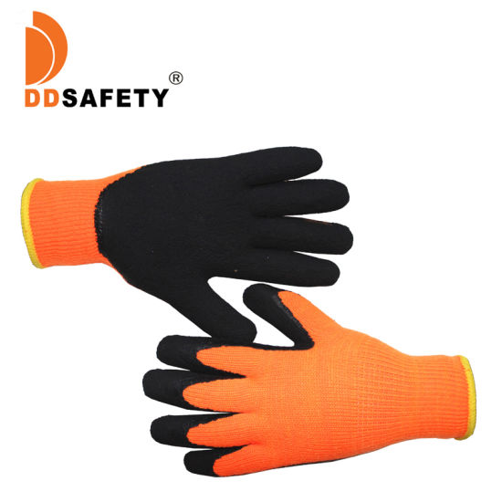 Latex Coated Knitting Protection Cotton Gloves with Napping Inside