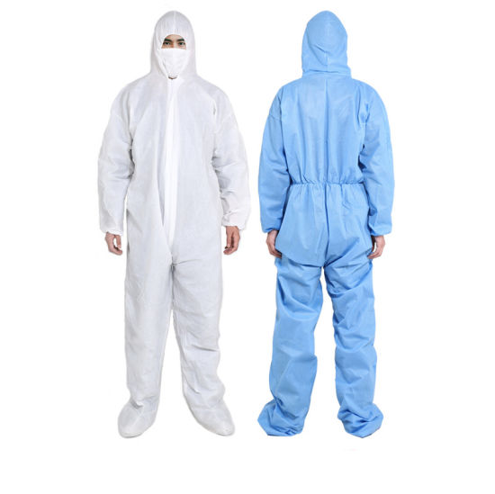 High Quality 3m Coverall Disposable Suit Non Woven Paper Disposable Coverall 40GSM pictures & photos