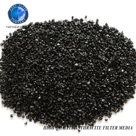 80% Min Fixed Carbon Anthracite Filter Media for Water Filtering Layer Tap Water Plant