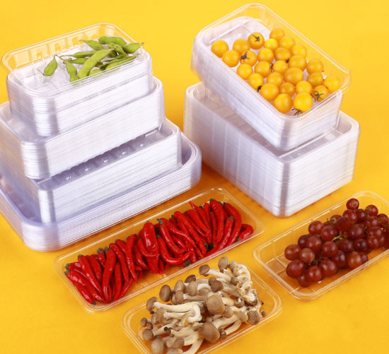 Supermarket Fruit Plastic Clear Tray