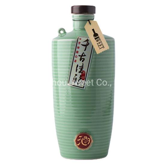 Custom 750ml Liquor Chinaware Ceramic Bottle