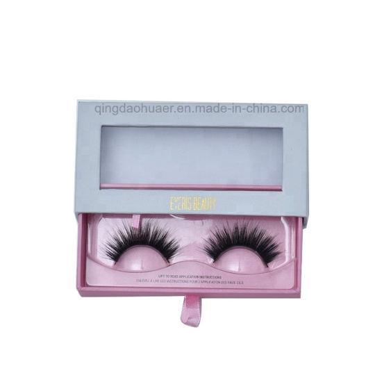 fe778dbd3e8 China Custom Paper Hot Stamping Logo Drawer Eyelash Packaging Lash ...