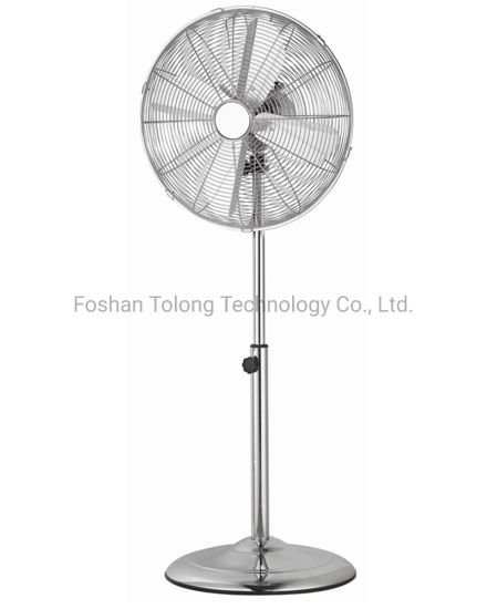 """16 """"Powerful Oscillating Adjustable Chrome Metal Industry Stand Fan"""