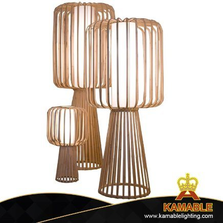 Indoor Modern Decoration Hotel Project Environment Bamboo Standing Floor Lamp