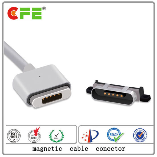 5pin Pogo Pin Magnetic Cable Connector for Laptop pictures & photos