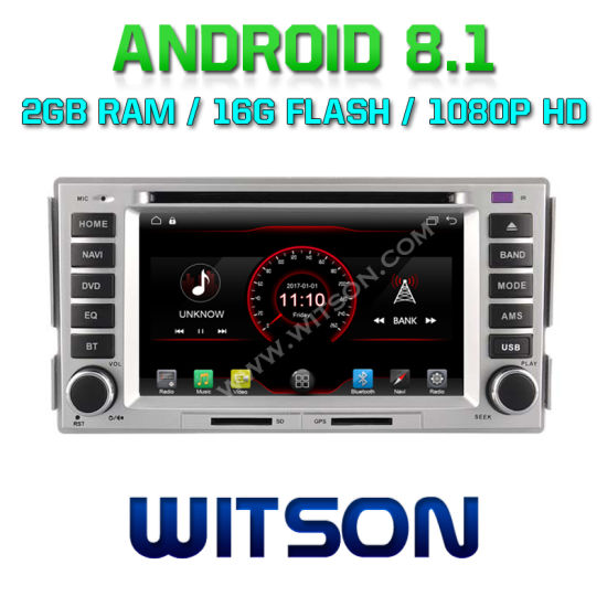 Witson Quad-Core Android 8.1 Car DVD Player for Hyundai Santa Fe 2007-2011 2g RAM 16GB ROM pictures & photos