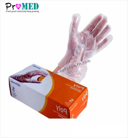 ISO13485 Certified HDPE LDPE Disposable plastic Gloves