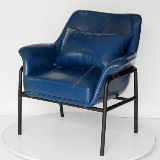 Phenomenal Metal Frame Leather Hotel Lounge Chair Inzonedesignstudio Interior Chair Design Inzonedesignstudiocom