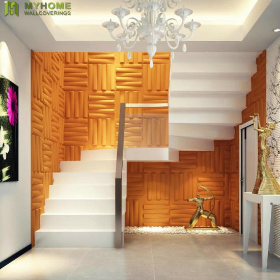 China Exterior Waterproof Wooden Textured 3d Wall Panel