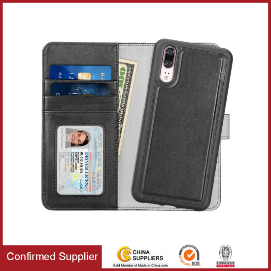 Detachable Cell Phone Folio Wallet Phone Case for Huawei P20/P30