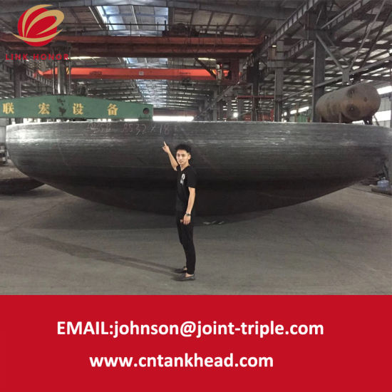 01-37 Giant Carbon Steel Elliptical Tank Head by Section Forming ID8532mm*18mm pictures & photos